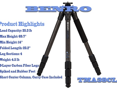 Benro TMA38CL Series 3 Mach 3 Tripod Review