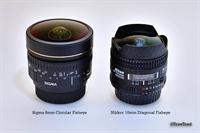 Two Nikon Fisheye Lens side by side